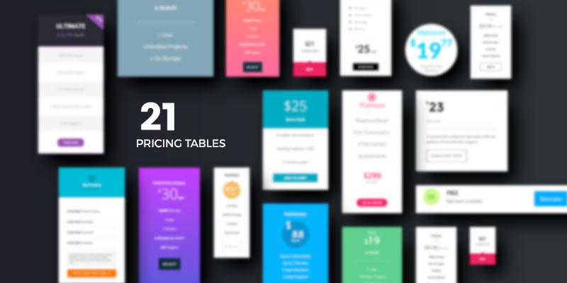 Responsive WordPress Pricing Tables For Blox Page Builder